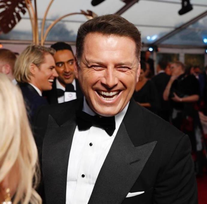 Karl was all smiles - and all hair - at this year's TV WEEK Logie Awards!