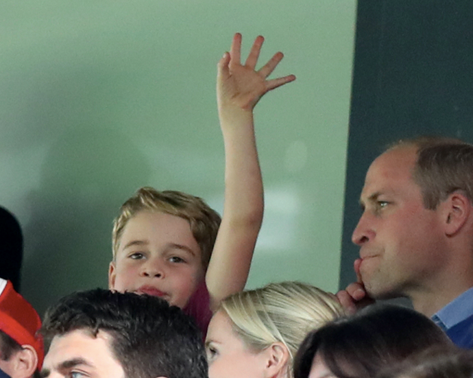 We get it, Prince George is a *big* fan of Aston Villa, just like his dad!