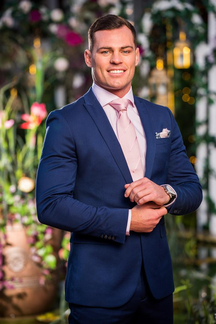 **Jackson, Sales Manager, 25, NSW** <br><br> A footballer all his life, Jackson reveals people often expect him to be dumb, though he's currently studying for his psychological science degree. Working at his family's pie business on the side, he's hoping find a girl with equally strong family values who he can grow old with.