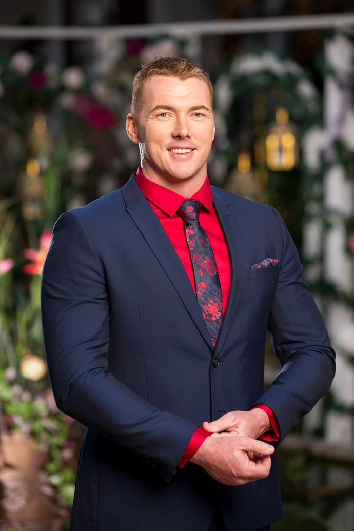 **Mitch, Apprentice Plumber, 31, Queensland** <br><br> Unfazed by the other contestants, Mitch is on the look out for more time with Angie – even if it means ruffling a few feathers.