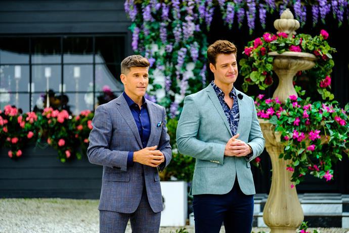 Osher with *The Bachelor* 2019 star Matt Agnew.