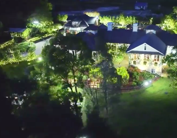 An eagle-eye view of this season's Bachelorette mansion in Sydney.