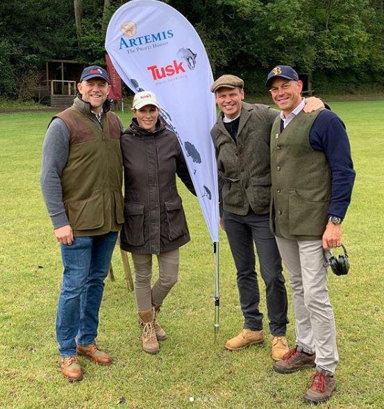 Mike shared a photo of himself and Zara attending a charity clay shooting event.