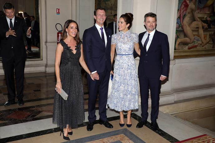 Princess Marie of Denmark and Prince Joachim of Denmark also joined the royals during a black tie dinner on Tuesday evening.