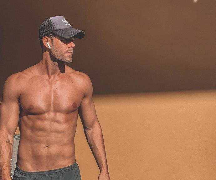 You could grate cheese on those abs!