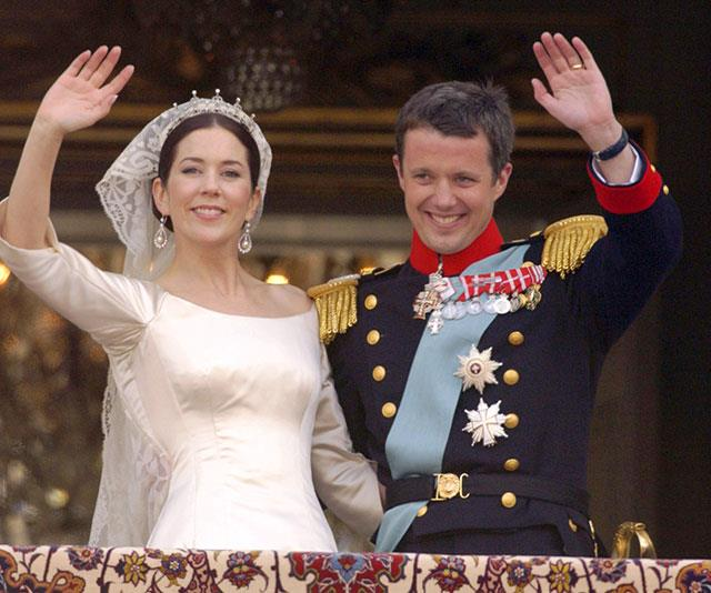 The perfect royal couple on their wedding day in 2004.