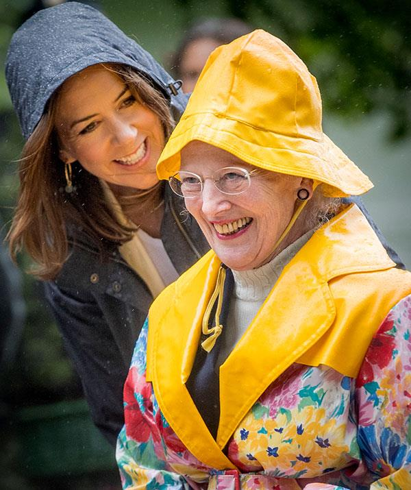 Mary with her mother-in-law Queen Margrethe.