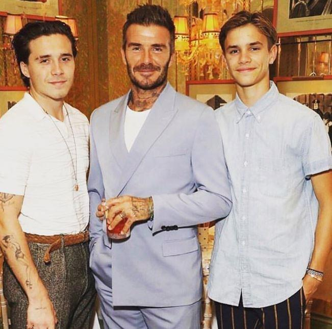 "The dashing Beckham lads are in the element in this new pic shared by Romeo on his personal Instagram account. The 17-year-old wrote ""Love u guys ♥️"" alongside the sweet pic."