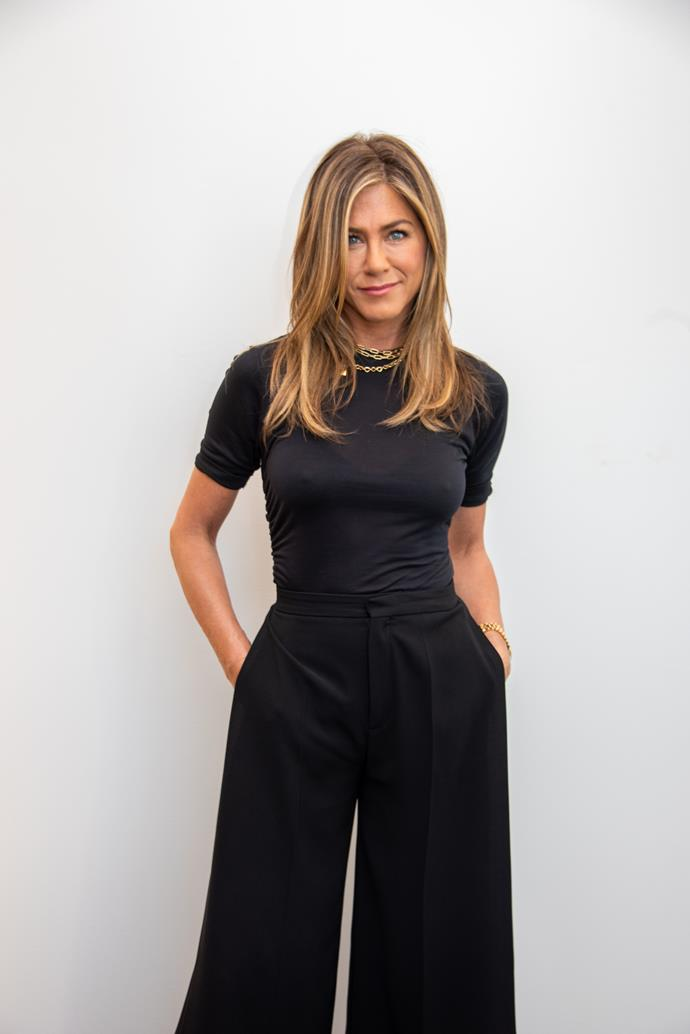 "**Jennifer Aniston, 50** <br><br> *Friends* might have ended 15 years ago, but [Jennifer Aniston](https://www.nowtolove.com.au/fashion/fashion-news/friends-fashion-56256|target=""_blank"") continues to thrive as an actress and positive role model to many - Rachel Green would be proud!"
