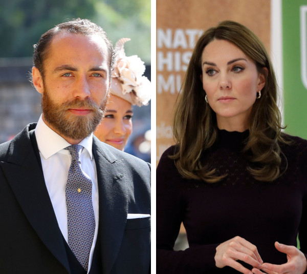 James Middleton (l) and his sister, the Duchess of Cambridge (r).