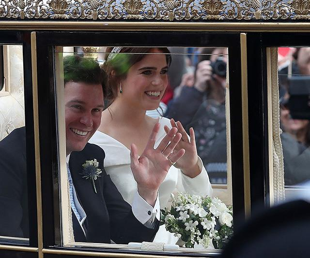 Eugenie and Jack have a beautiful portrait from their carriage procession on the wall of their home at Kensington Palace.