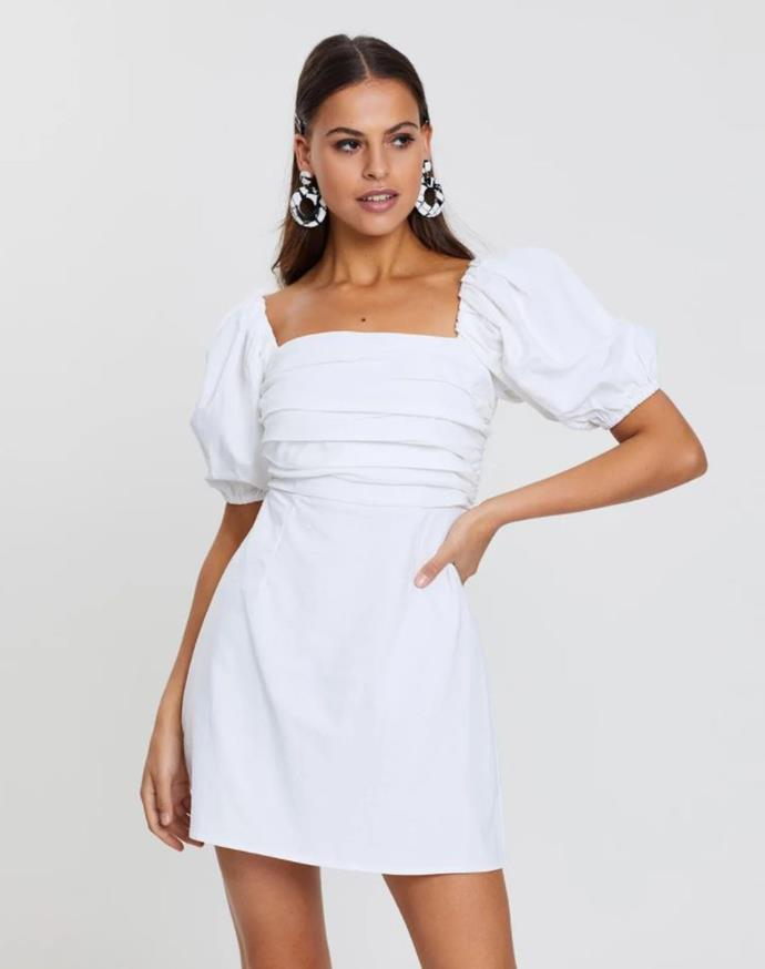 """Dazie legendary lovers linen blend dress, $79.99. Available [via The Iconic here](https://www.theiconic.com.au/legendary-lovers-linen-blend-dress-891831.html