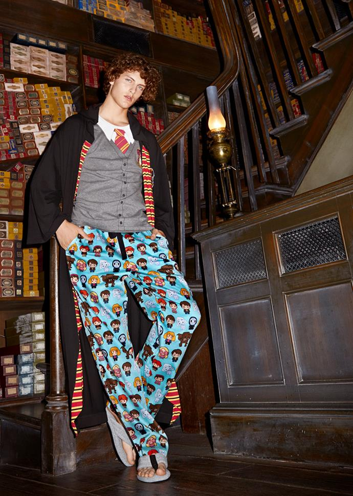 The book's iconic characters are re-imagined in cartoon form in these PJ pants.