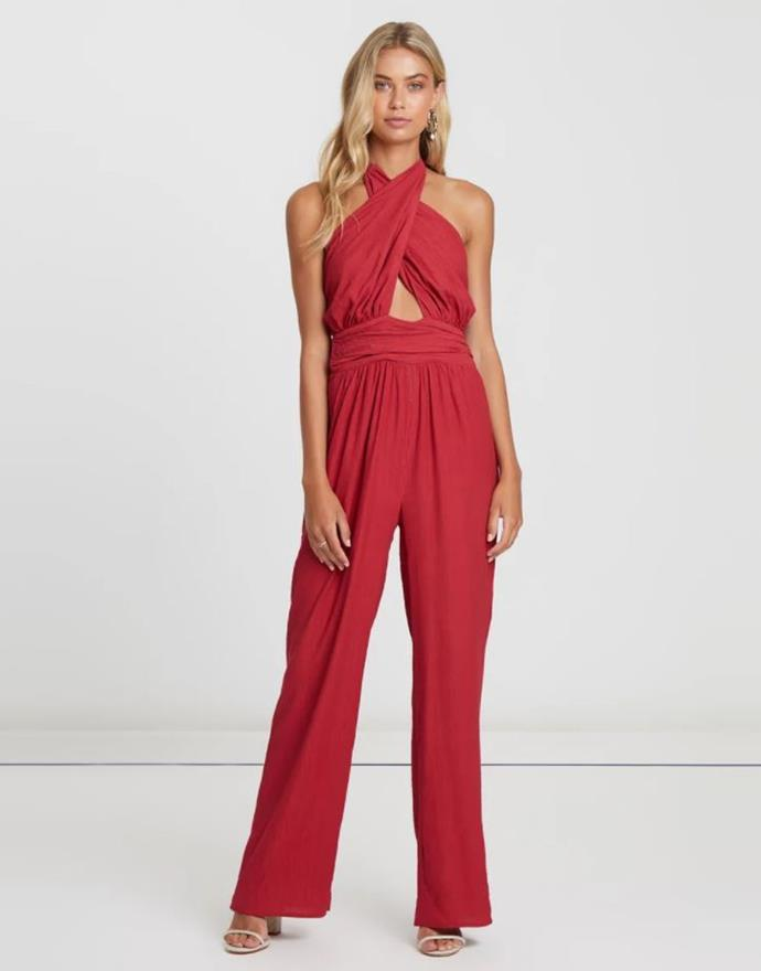 """The Fated firefly halter jumpsuit, $77.97. [Buy it via The Iconic here](https://www.theiconic.com.au/firefly-halter-jumpsuit-829655.html