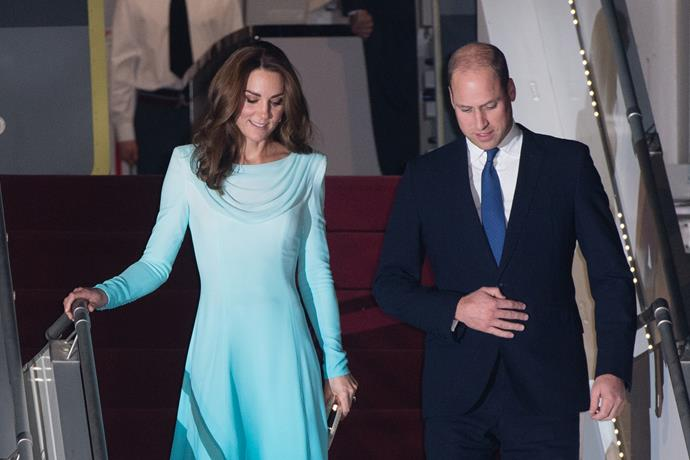 The royals emerged from their private flight looking refreshed and ready for the whirlwind tour.