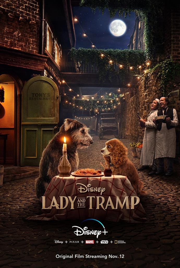 *Lady and the Tramp* (2019) is coming exclusively to Disney+