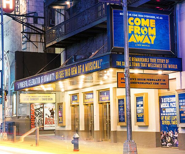 The show was performed on Broadway.