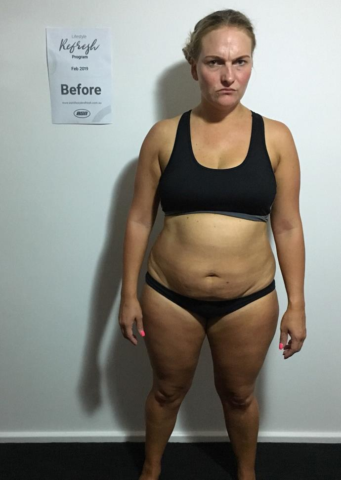At her heaviest, Nicole weighed 90kg.
