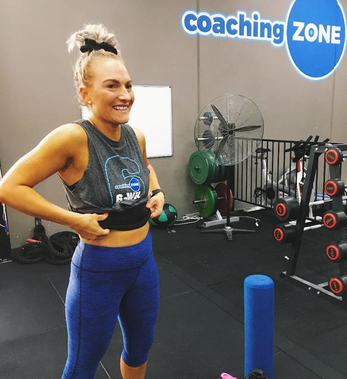 Nicole now works out everyday and loves weight training and running.