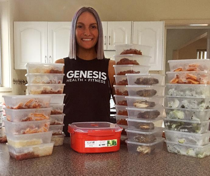 Nicole loves to meal prep on Sundays to ensure she's got plenty of healthy meals for the week.