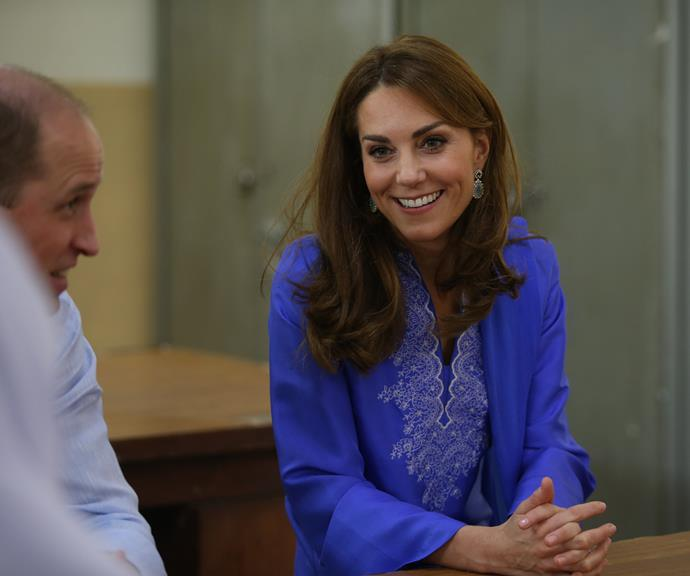 Kate is travelling with a hairdresser on this tour, but no makeup artist.