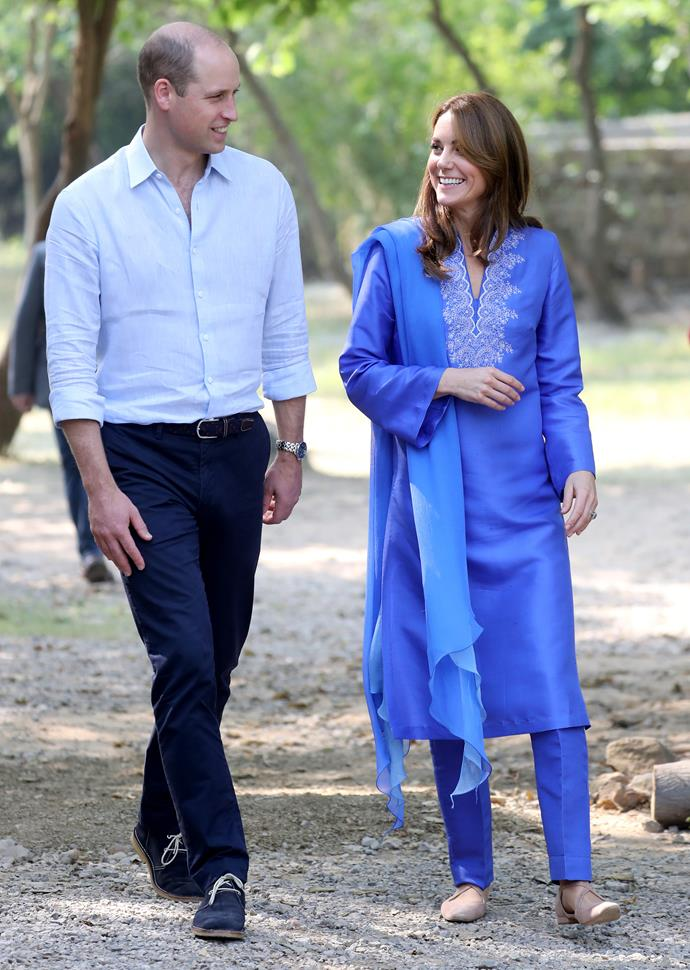 Kate and William shared a sweet moment together as they began their second day in Pakistan.