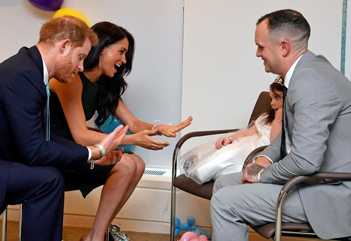 The royals were in their element during the emotional event.