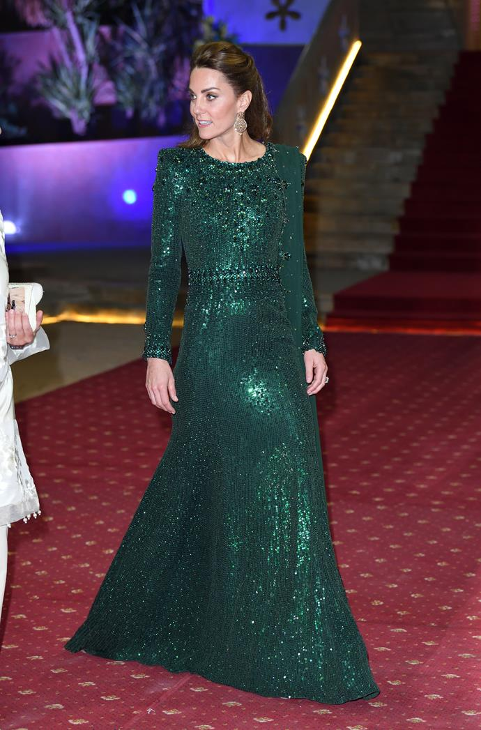 We're calling it - this is our favourite gown on Duchess Catherine yet!