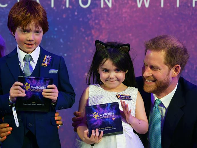 Prince Harry was visibly emotional as he presented a touching speech onstage.