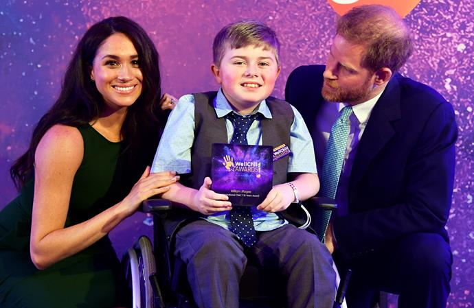 This is the second year Harry and Meghan have attended the awards together.