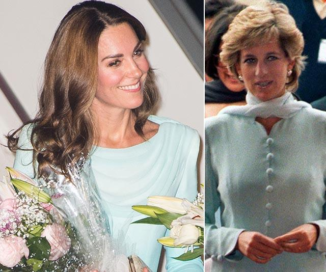 And in a beautiful tribute, Kate's outfit had plenty of similarities to a design worn by her mother-in-law - the ever stylish Princess Diana had her own iconic fashion moment in the South Asian country back in 1996.