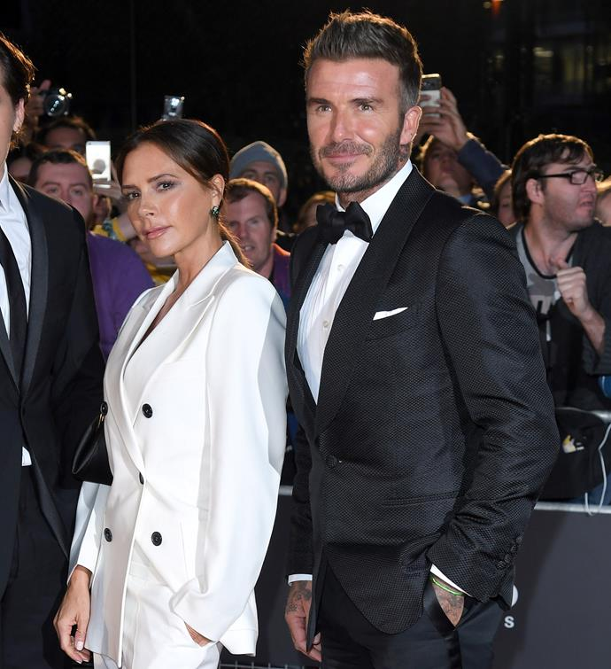 Victoria and David Beckham on the red carpet earlier this year.