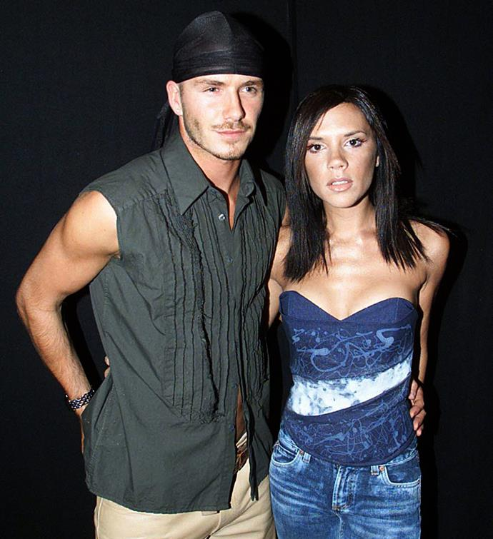 David and Victoria Beckham pictured in 2000.