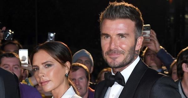 "Victoria Beckham says it was ""love at first sight\"" for her and husband David Beckham 