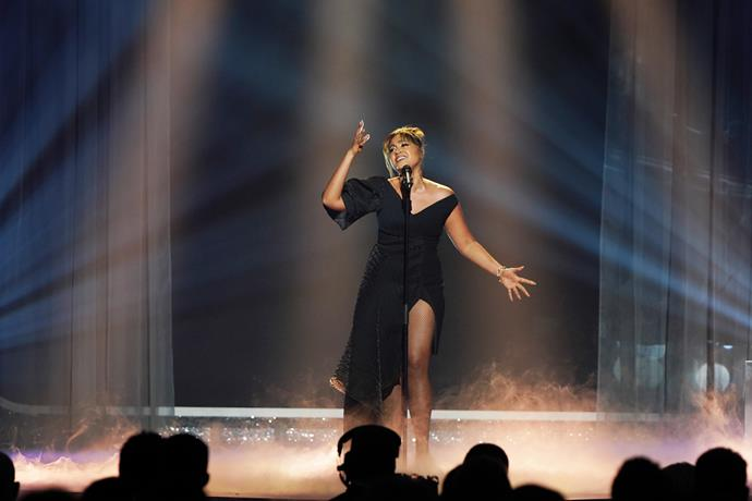Jessica Mauboy performs at the 2019 TV WEEK Logie Awards.