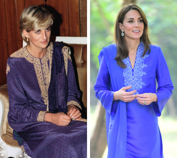 Both Princess Diana and Duchess Catherine look radiant in kurtas.