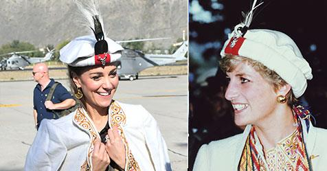 Kate had an amazing mirror moment with Princess Diana during day three of her royal tour.