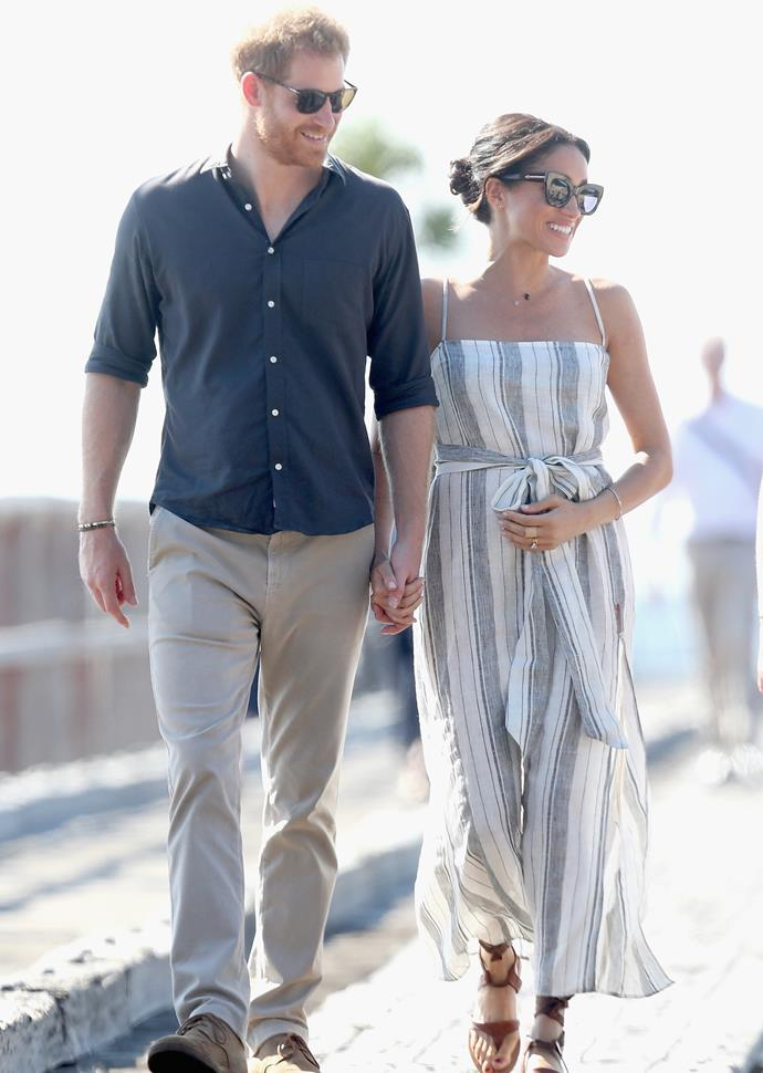 Prince Harry and Meghan Markle pictured in Australia during their royal tour in 2018.