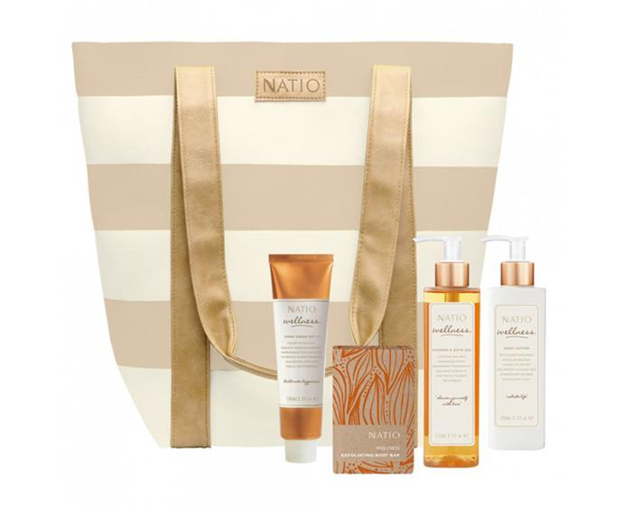 "**Natio Bliss Gift Set, $39.95 at [Priceline](https://www.priceline.com.au/skincare/skincare-gift-sets/natio-bliss-gift-set-4-piece|target=""_blank""