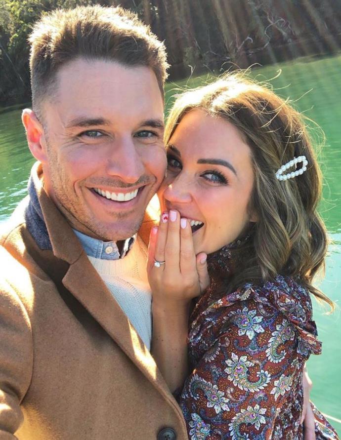 It's true love! Georgia and her fiancé, Lee Elliott.