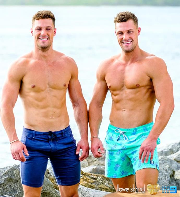 Josh (left) and Luke (right) are the hot new intruders on *Love Island*.