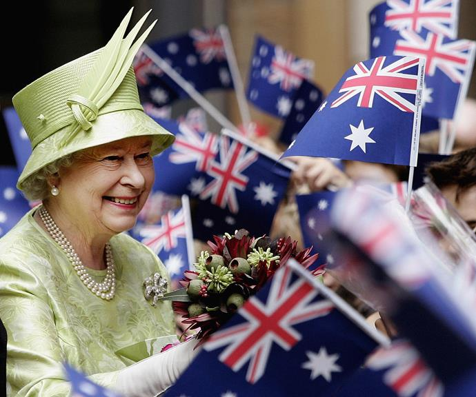 The Queen greets royal fans during a visit to Sydney in 2006.