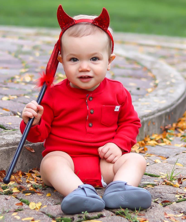 **Little devil:** Your little devil will be the talk of the town in this easy to pull together fancy dress costume.