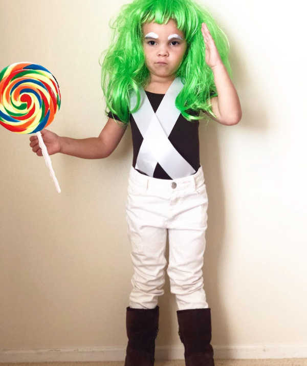 "**Oompa Loompa:** Gotta love an easy Halloween Costume that doubles up for [Book Week](https://www.nowtolove.com.au/parenting/family/20-easy-book-week-costumes-57461|target=""_blank"") too. This Oompa Loompa cutie is a perfect example."