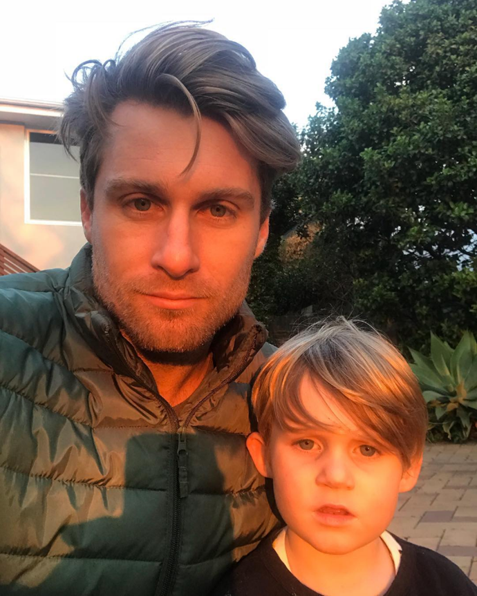 Rumoured new host Saul Myers with his son.