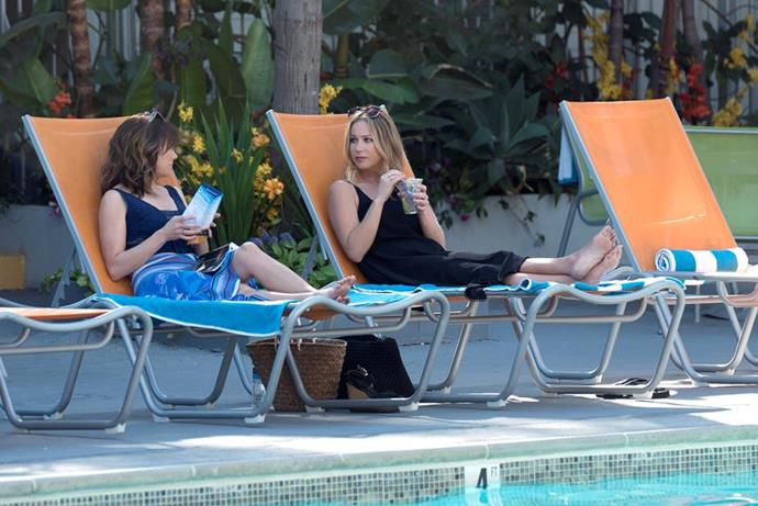 Christina Applegate and Linda Cardellini in *Dead To Me.*
