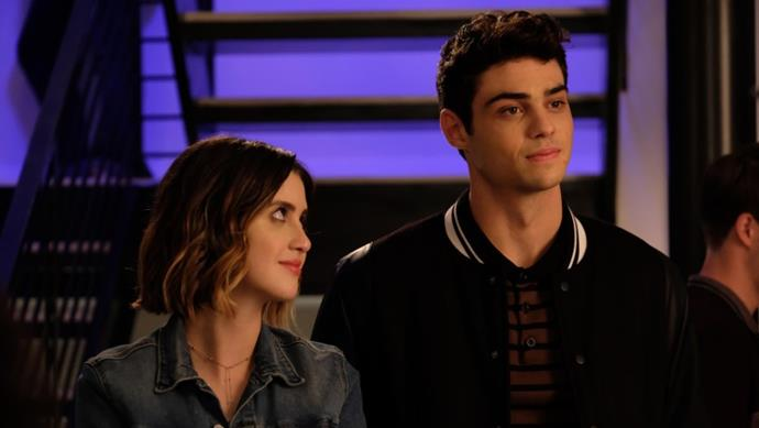 Noah Centineo and Laura Marano in *The Perfect Date.*