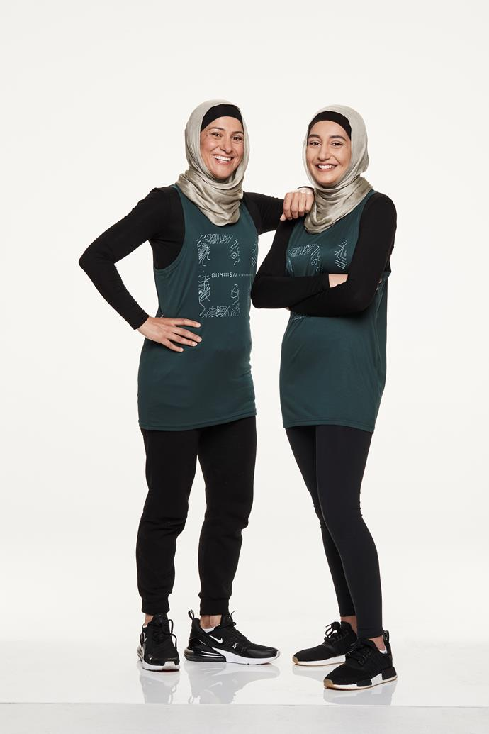 "**MOTHER-DAUGHTER DUO: ROWAH, 42, & AMANI, 18** <br><br> Rowah and daughter Amani see this as a chance to bust stereotypes. Amani is studying fashion and hopes to create modest clothing for Muslim women; Rowah owns three gyms and during the competition hopes to ""learn more about my daughter, to empower women – and, of course, to win""."