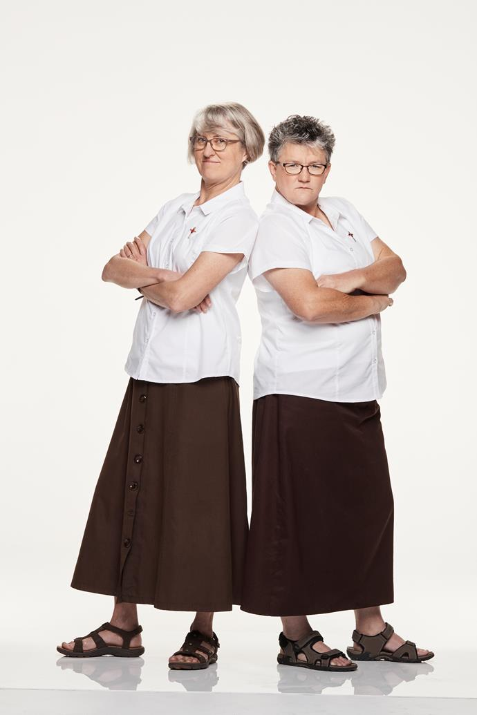 **JET-SETTING NUNS: JUDY, 53, & THERESE, 45** <br><br> Judy swims 1.5km and runs 17km a week, and Therese gets about on a non-motorised scooter. Not to be underestimated!