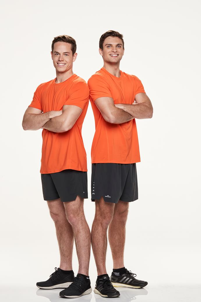 **FOOTY FRIENDS: TOM, 23 & TYLER, 23** <br><br> Mates Tom and Tyler have trained hard to achieve their goals, so the race should be no different.